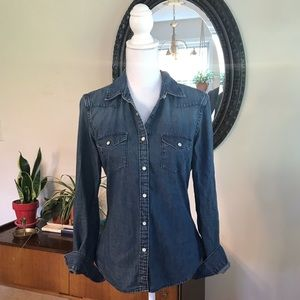 GAP Denim Button Up Western Style